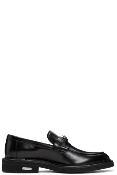 Versace - Black Medusa Penny Loafers