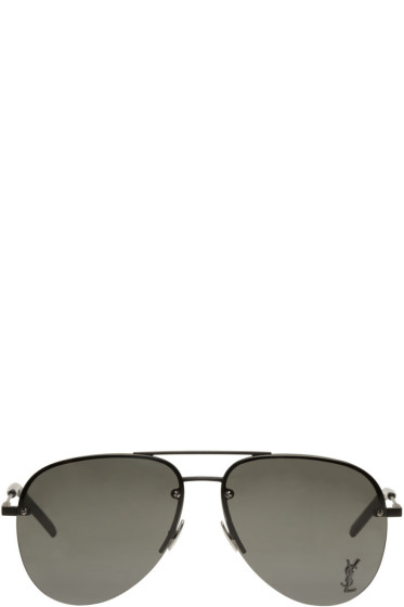 Saint Laurent - Black Monogram M11 Aviator Sunglasses