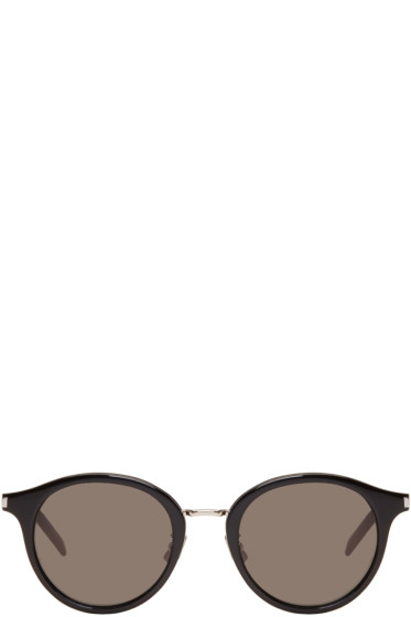 Saint Laurent - Black & Silver SL 57 Pantos Sunglasses