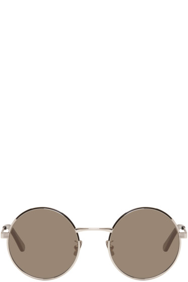 Saint Laurent - Silver SL 136 Zero Retro Sunglasses