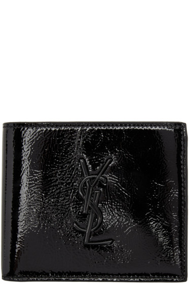 Saint Laurent - Black Patent Monogram East West Wallet