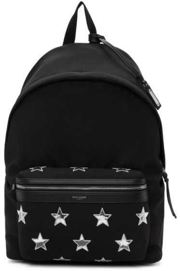 Saint Laurent - Black California Stars City Backpack