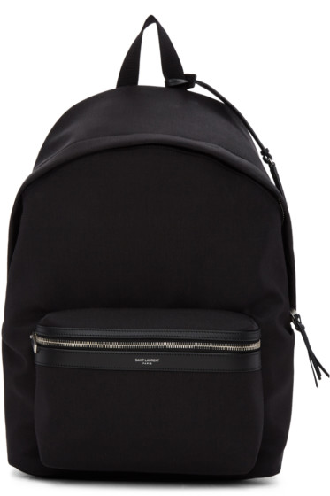 Saint Laurent - Black City Backpack