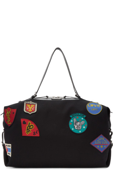 Saint Laurent - Black Large ID Convertible Patches Bag