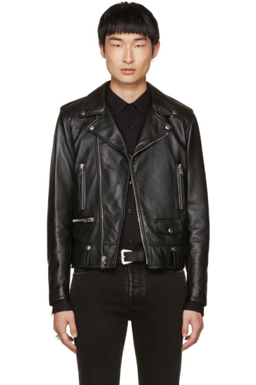 Saint Laurent - Black Leather Blood Luster L01 Jacket