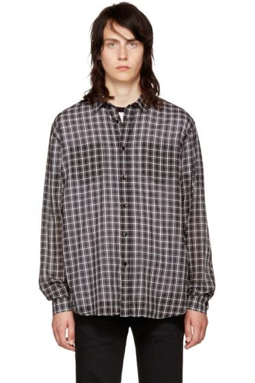 Saint Laurent - Black & White Check Shirt