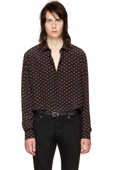 Saint Laurent - Black 'Bouche' Shirt
