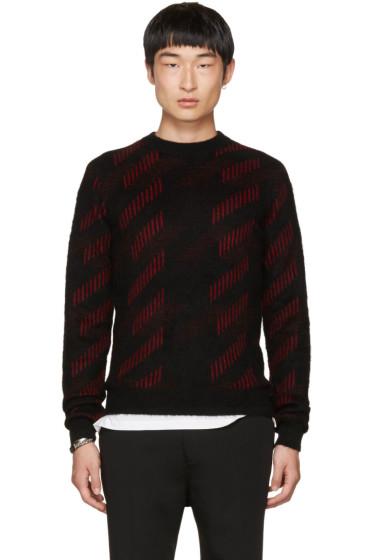 Saint Laurent - Black & Red Striped Crewneck Sweater
