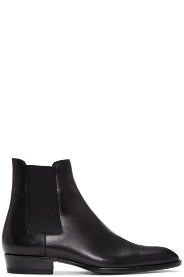 Saint Laurent - Black Wyatt Chelsea Boots