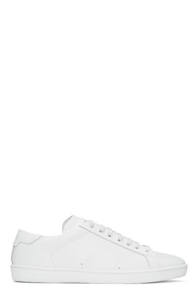 Saint Laurent - White SL/01 Court Classic Sneakers