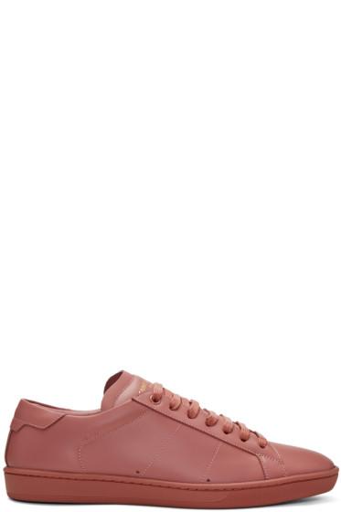 Saint Laurent - Pink SL/01 Court Classic Sneakers