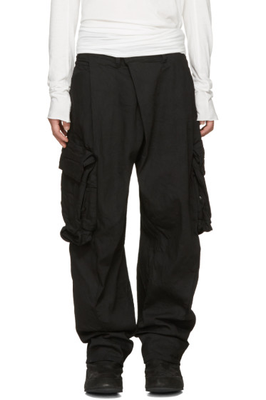 Julius - Black Gas Mask Cargo Pants