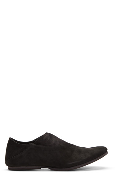 Julius - Black Nubuck Loafers