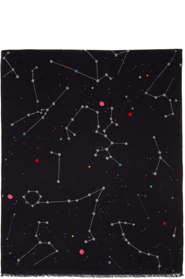 PS by Paul Smith - Black Milky Way Scarf