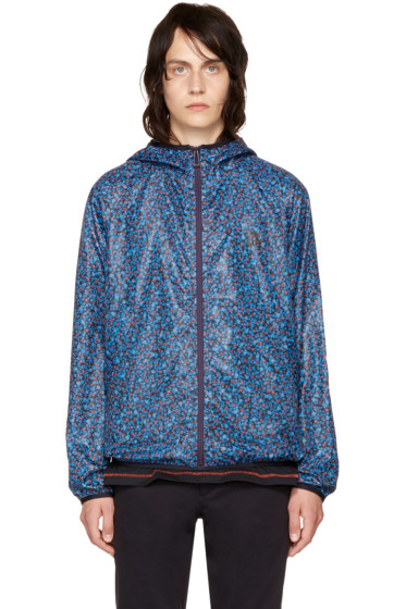 PS by Paul Smith - Blue Multidot Hooded Jacket