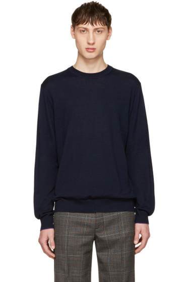 PS by Paul Smith - Navy Merino Knit Pullover