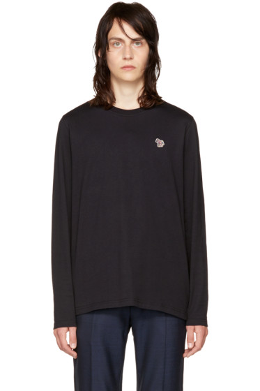 PS by Paul Smith - Black Long Sleeve Zebra T-Shirt