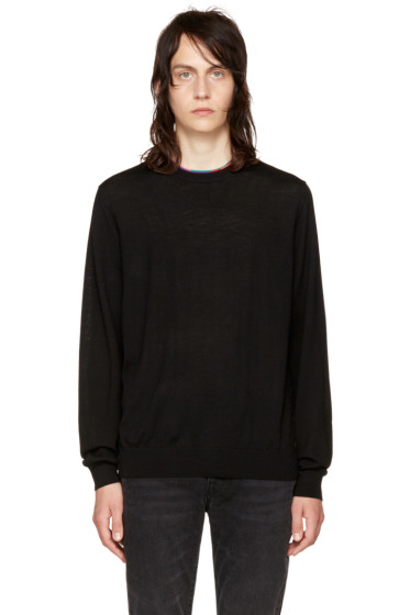 PS by Paul Smith - Black Multistripe Sweater