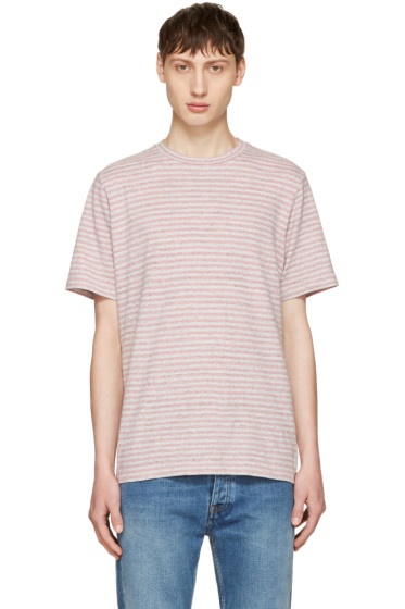 PS by Paul Smith - Pink Small Stripe T-Shirt
