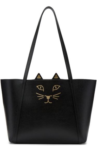 Charlotte Olympia - Black Mini Feline Tote