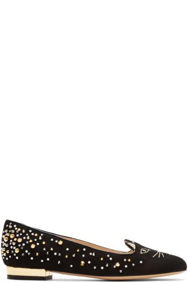 Charlotte Olympia - Black Kitty Flats