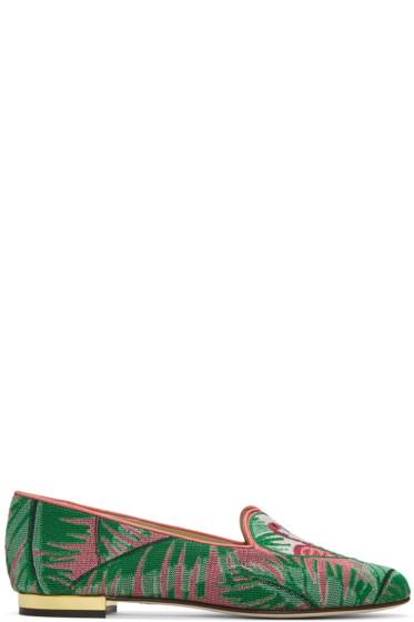 Charlotte Olympia - Multicolor Flamingo Slippers