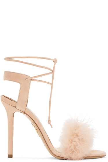 Charlotte Olympia - Pink Suede Salsa Sandals