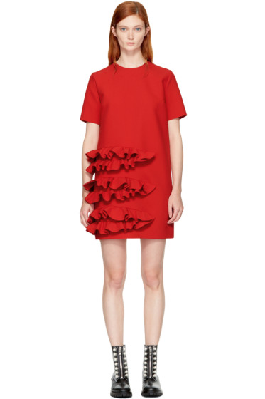 MSGM - Red Ruffle Dress