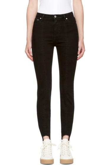 MSGM - Black Skinny Stirrup Jeans