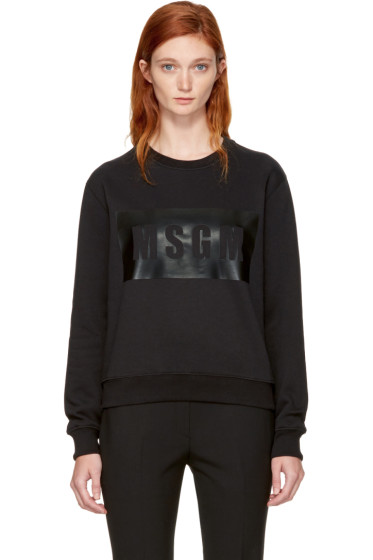 MSGM - Black Box Logo Sweatshirt