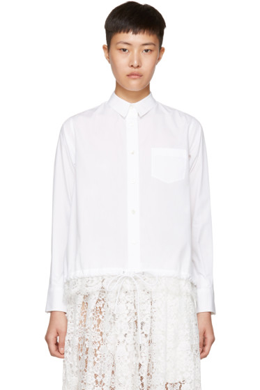 Sacai - White Drawstring & Lace Shirt