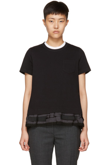 Sacai - Black Layered T-Shirt