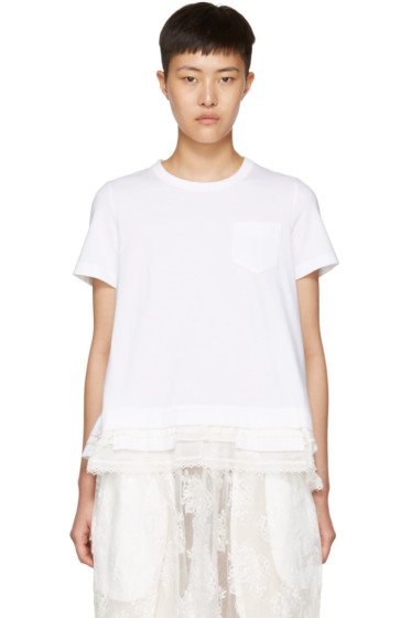 Sacai - White Layered T-Shirt