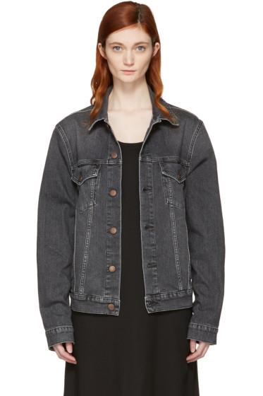 6397 - Black Jean Jacket