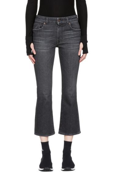 6397 - Black Mini Kick Jeans