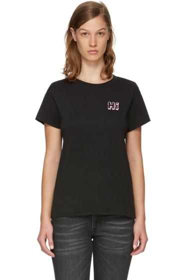 6397 - Black 'Hi' Boy T-Shirt