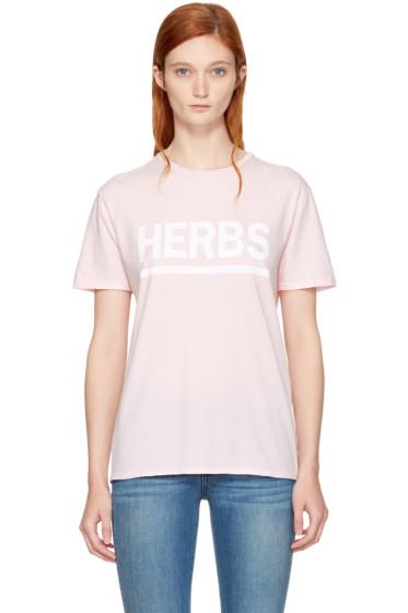 6397 - Pink 'Herbs' T-Shirt