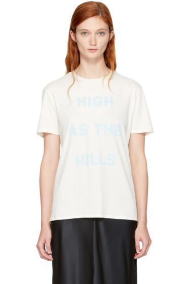 6397 - White 'High as the Hills' T-Shirt