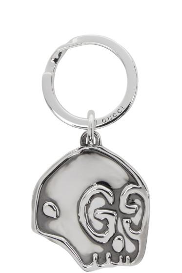 Gucci - Silver GucciGhost Skull Keychain