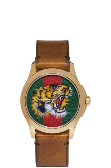 Gucci - Gold Medium G-Timeless Tiger Watch