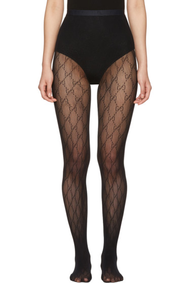Gucci - Black GG Supreme Stockings