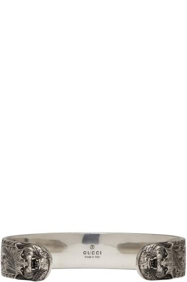 Gucci - Silver Feline Bracelet