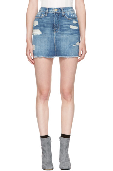Frame Denim - Blue Denim 'Le Mini' Miniskirt