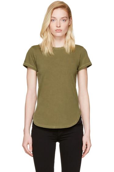 Frame Denim - グリーン リンガー T シャツ