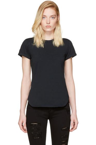 Frame Denim - ブラック リンガー T シャツ