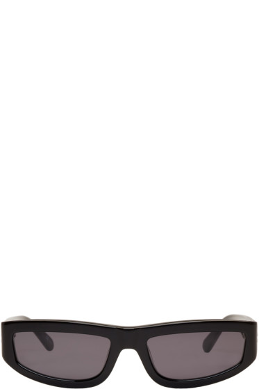 Stella McCartney - Black Slim Rectangular Sunglasses