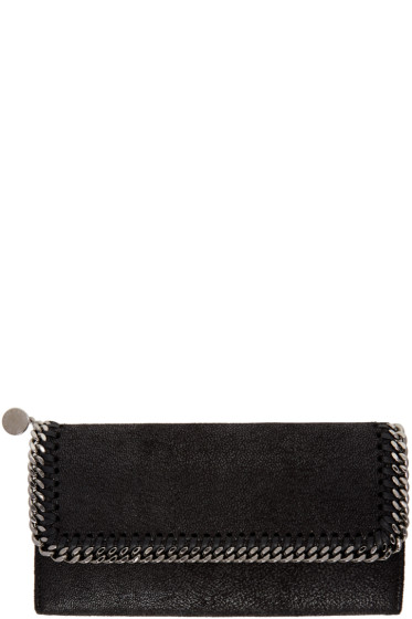 Stella McCartney - Black Falabella Continental Flap Wallet