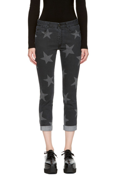 Stella McCartney - Black Cropped Skinny Boyfriend Jeans