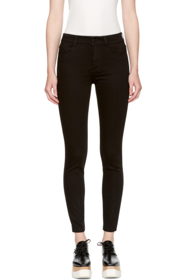 Stella McCartney - Black High Waist Cropped Skinny Jeans