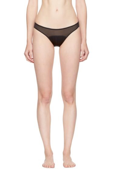 Stella McCartney - Black Cherie Sneezing Bikini Briefs